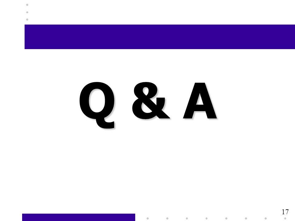 17 Q & A 17