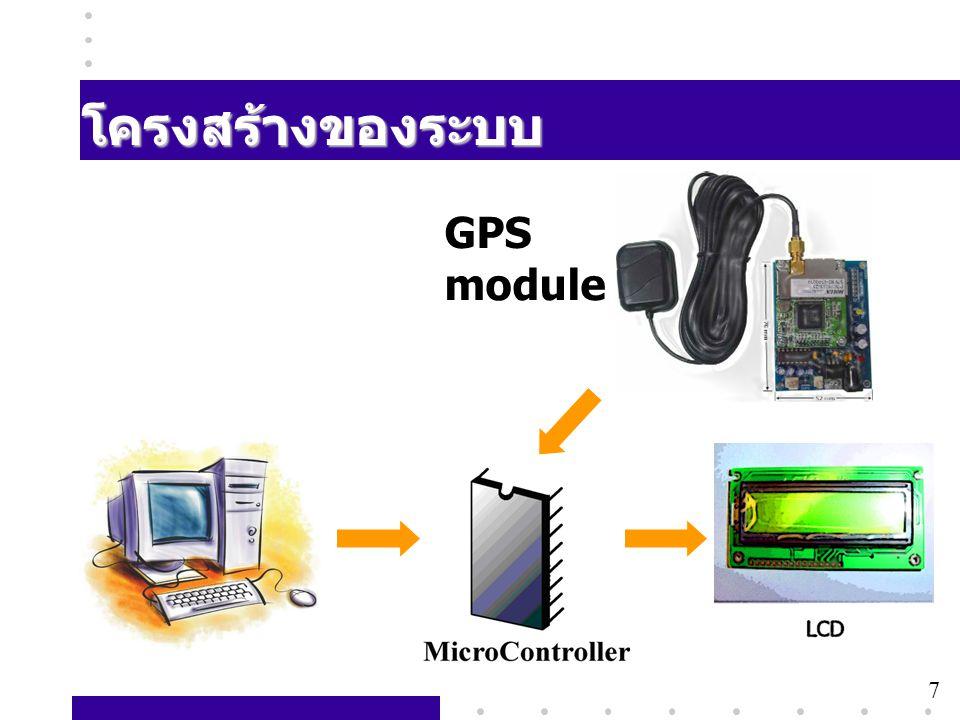 7 โครงสร้างของระบบ GPS module 7