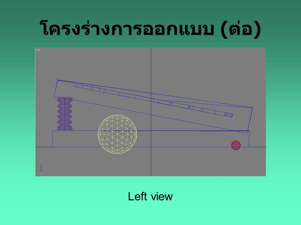 โครงร่างการออกแบบ ( ต่อ ) Left view