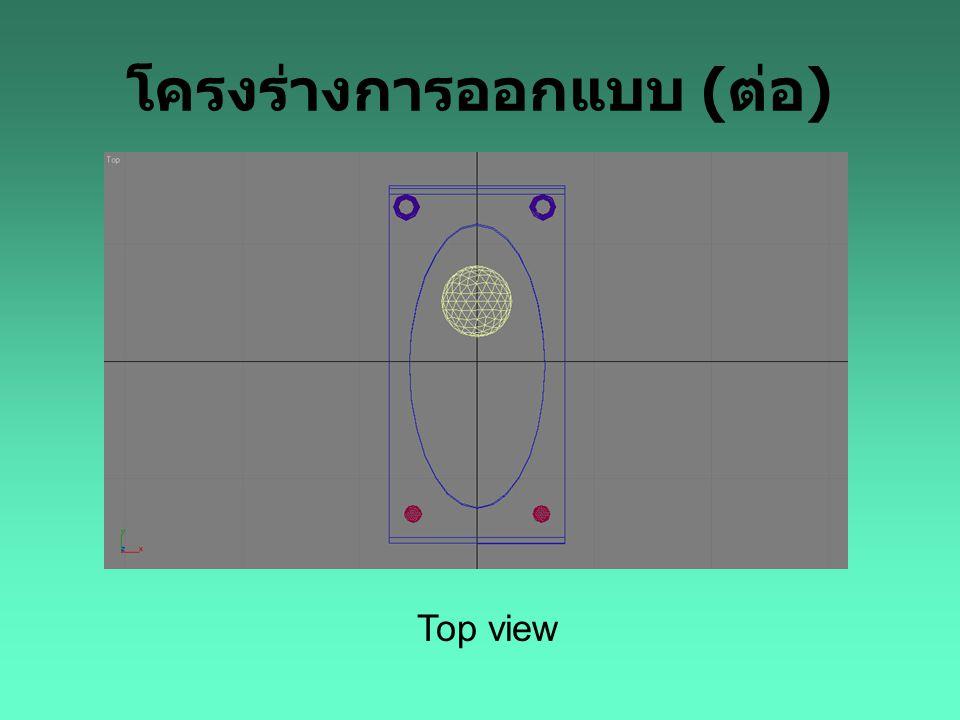 โครงร่างการออกแบบ ( ต่อ ) Top view