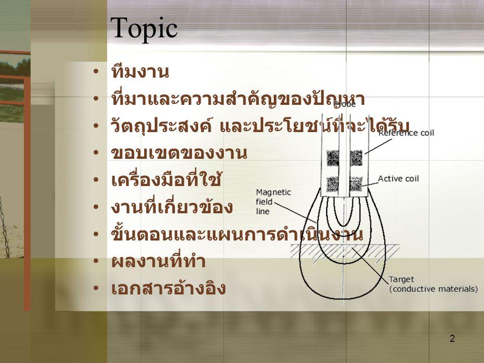 13 เอกสารอ้างอิง •www.rohmann.de/ •www.engineersedge.com/ inspection/eddycurrent.htmwww.engineersedge.com/ inspection/eddycurrent.htm •http://www.ndt- ed.org/EducationResources/CommunityC ollege/EddyCurrents/Introduction/historyof ET.htmhttp://www.ndt- ed.org/EducationResources/CommunityC ollege/EddyCurrents/Introduction/historyof ET.htm •http://www.pfonline.com/articles/0205qf1.