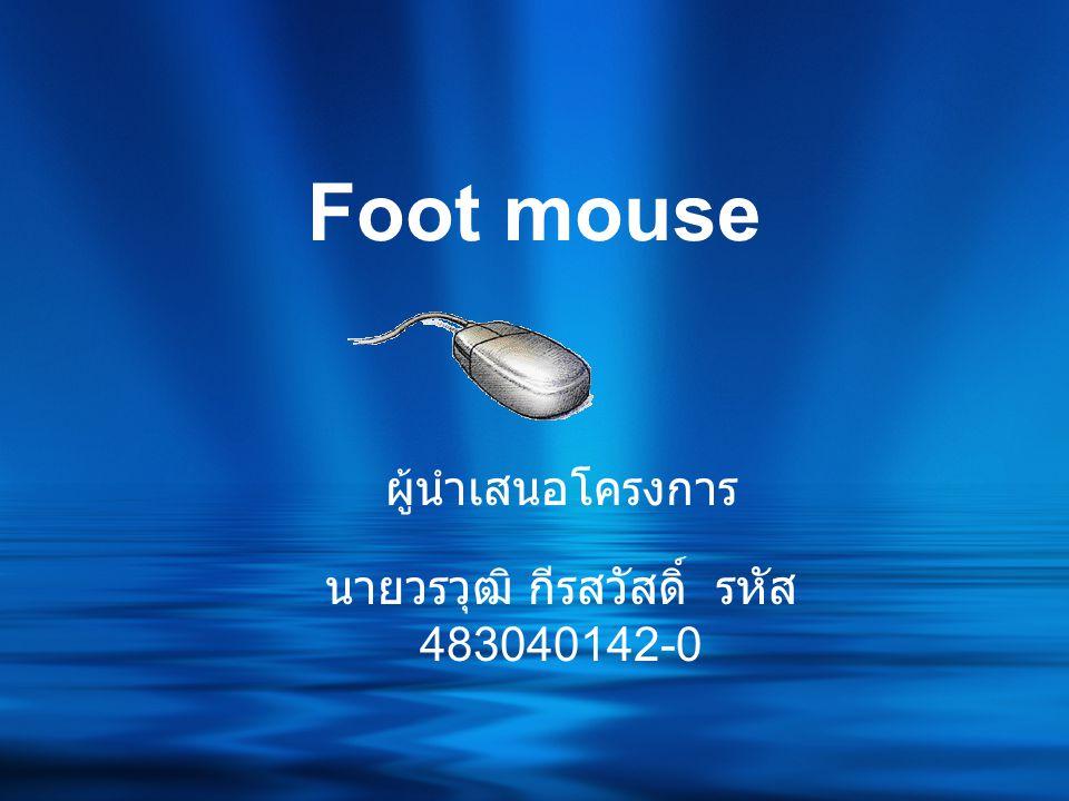 Foot mouse ผู้นำเสนอโครงการ นายวรวุฒิ กีรสวัสดิ์ รหัส 483040142-0
