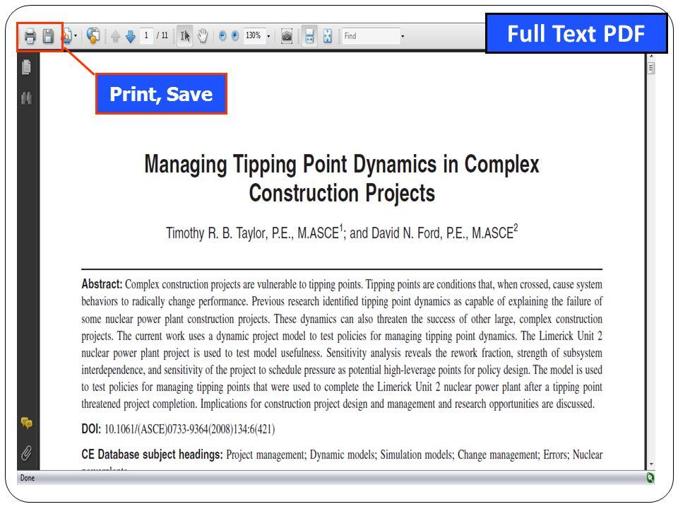Print, Save Full Text PDF