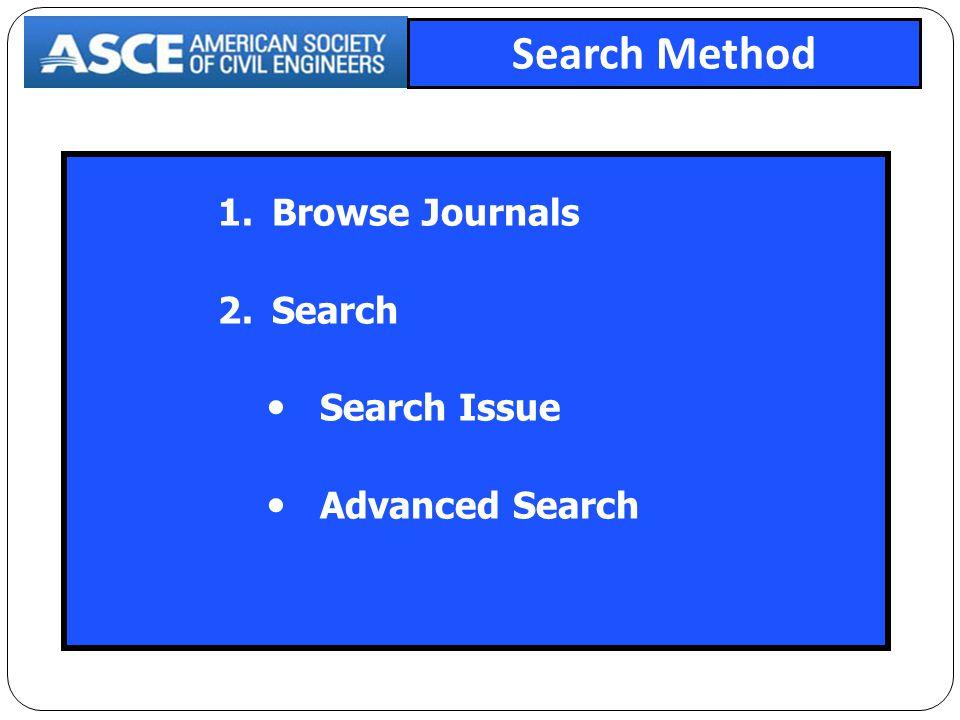 ASCE Journals เลือกไล่เรียงชื่อวารสารที่ต้องการ