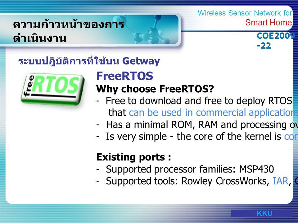 www.themegallery.com ความก้าวหน้าของการ ดำเนินงาน ระบบปฎิบัติการที่ใช้บน Getway FreeRTOS Why choose FreeRTOS? - Free to download and free to deploy RT
