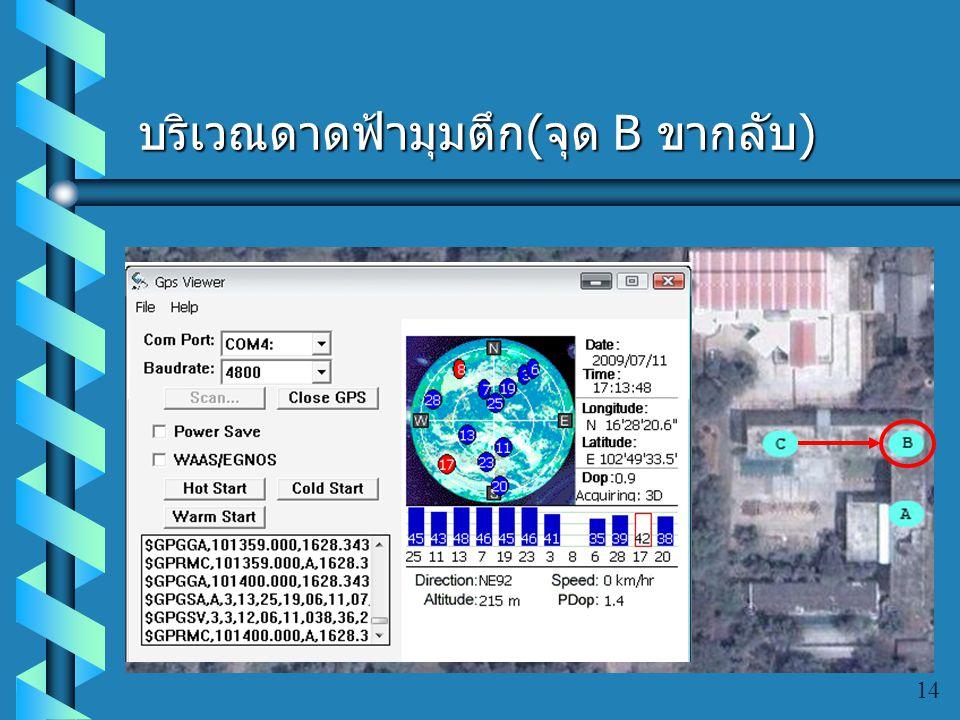 บริเวณดาดฟ้าภาควิชาวิศวกรรม คอมพิวเตอร์ ( จุด C) 13