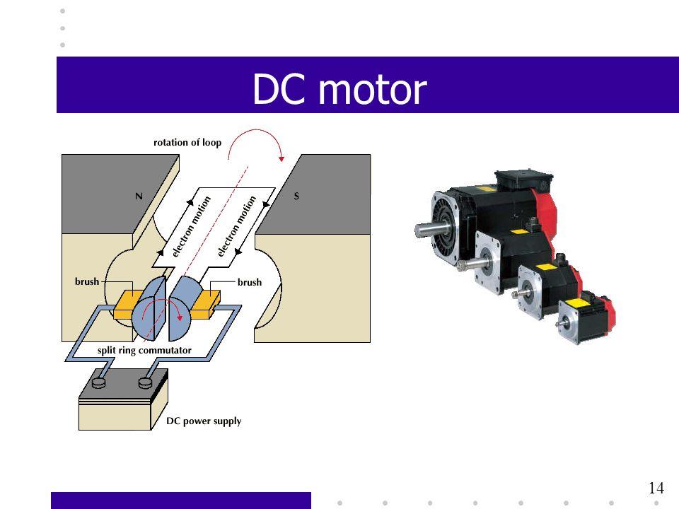 13 DC motor 14