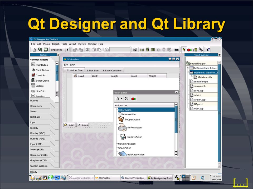 Qt Designer and Qt Library […]