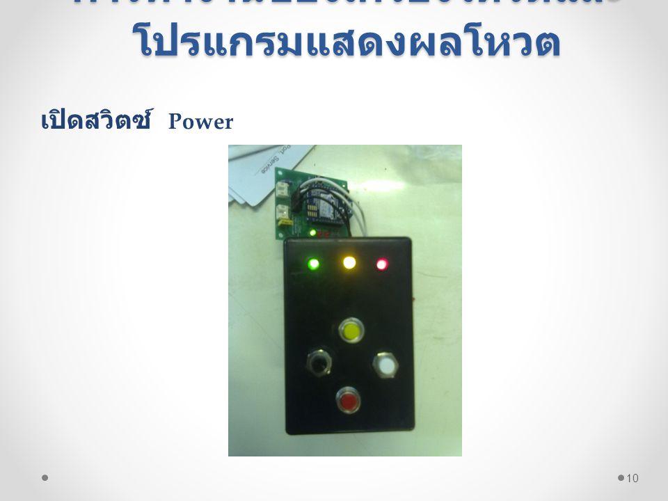 การทำงานของเครื่องโหวตและ โปรแกรมแสดงผลโหวต เปิดสวิตซ์ Power 10