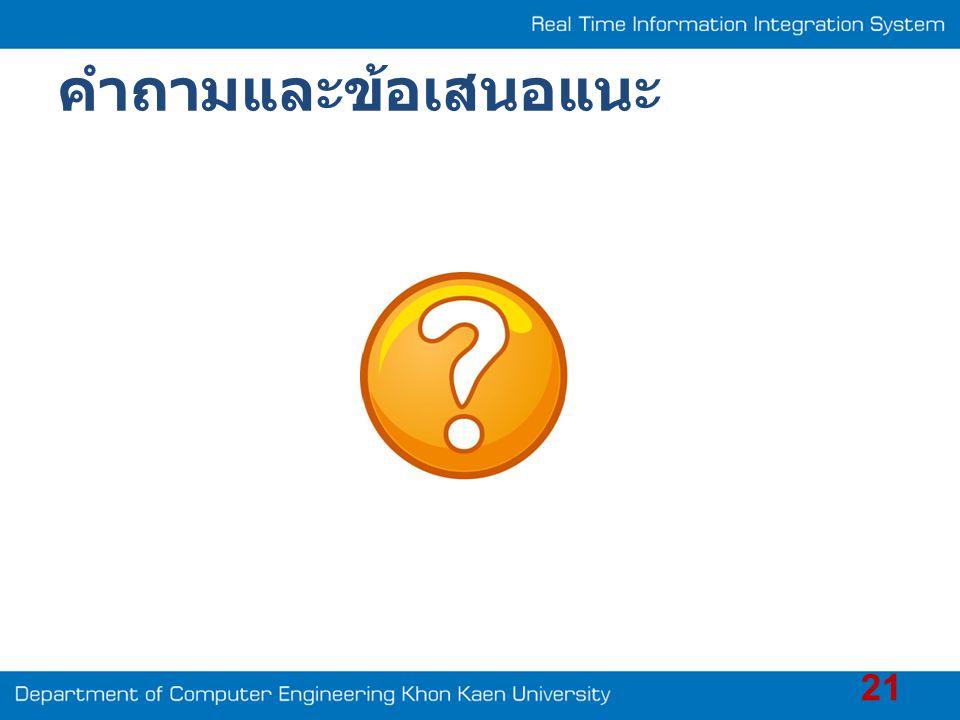 คำถามและข้อเสนอแนะ 21