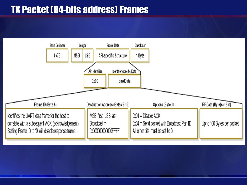 TX Packet (64-bits address) Frames