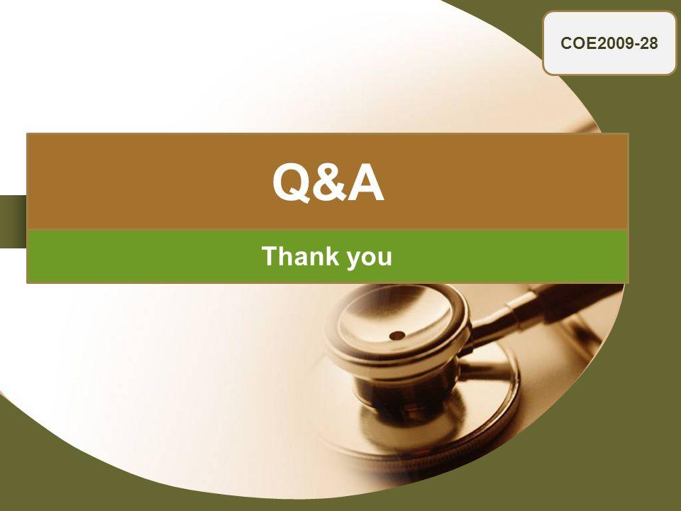 Company LOGO COE2009-28 Thank you Q&A