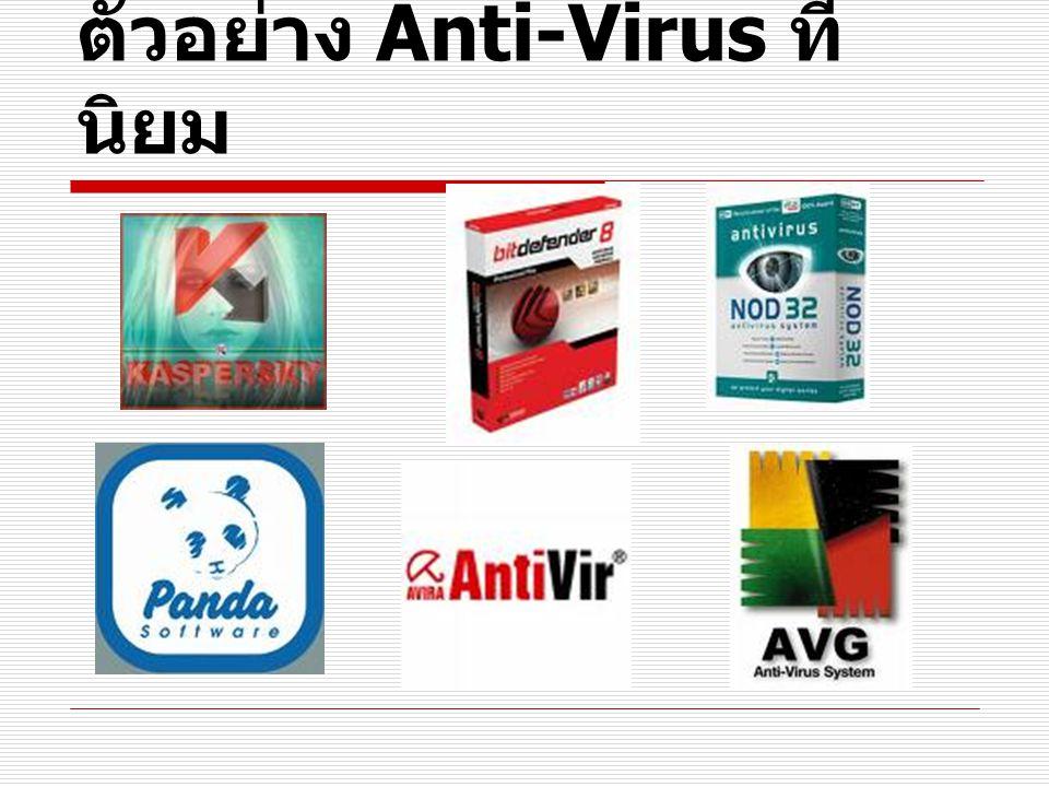 ตัวอย่าง Anti-Virus ที่ นิยม
