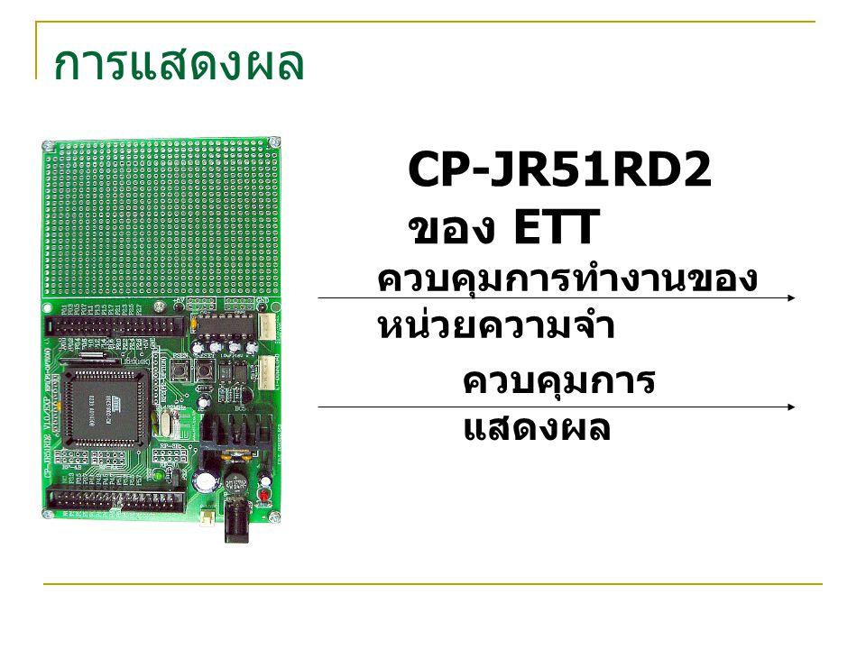CP-JR51RD2 ของ ETT ควบคุมการทำงานของ หน่วยความจำ ควบคุมการ แสดงผล