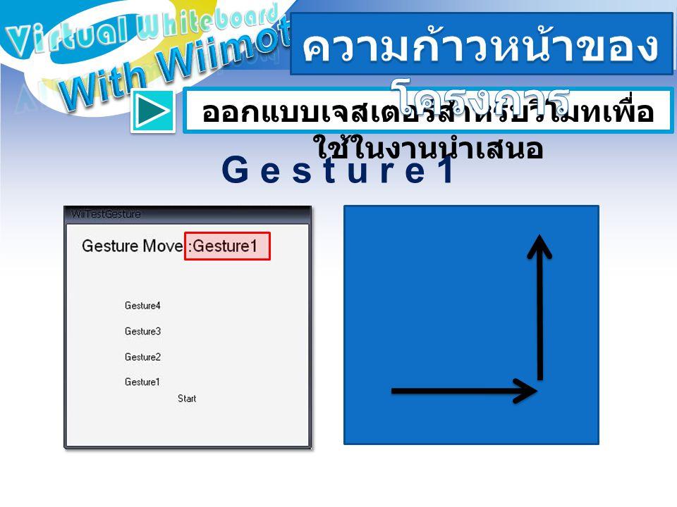 ออกแบบเจสเตอร์สำหรับวีโมทเพื่อ ใช้ในงานนำเสนอ G e s t u r e 1