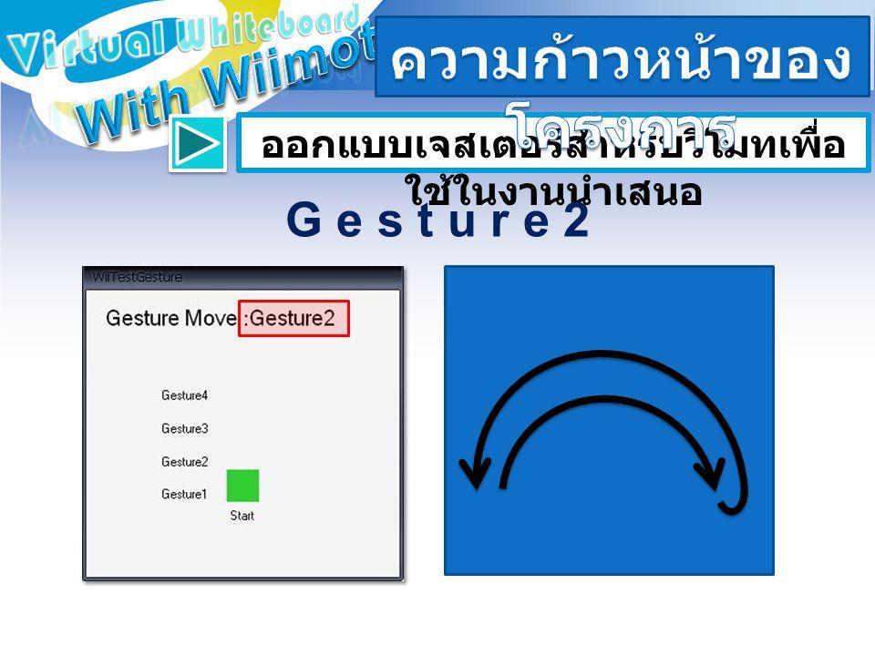 ออกแบบเจสเตอร์สำหรับวีโมทเพื่อ ใช้ในงานนำเสนอ G e s t u r e 2