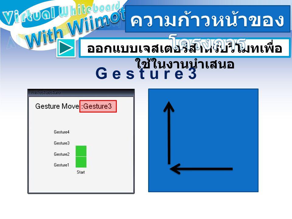 ออกแบบเจสเตอร์สำหรับวีโมทเพื่อ ใช้ในงานนำเสนอ G e s t u r e 3