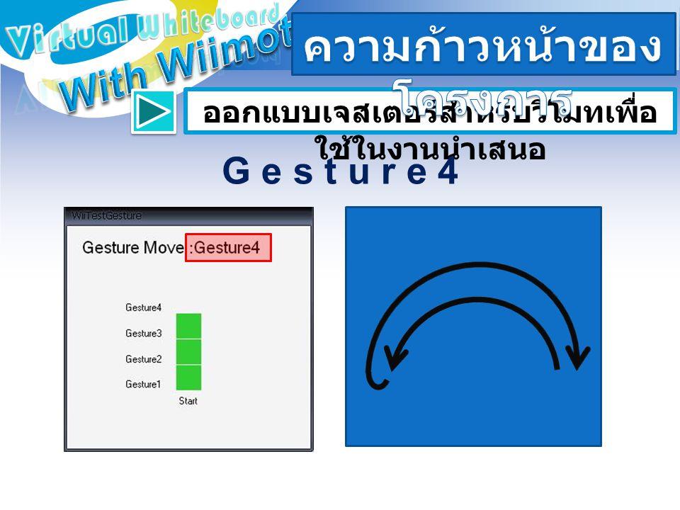 ออกแบบเจสเตอร์สำหรับวีโมทเพื่อ ใช้ในงานนำเสนอ G e s t u r e 4