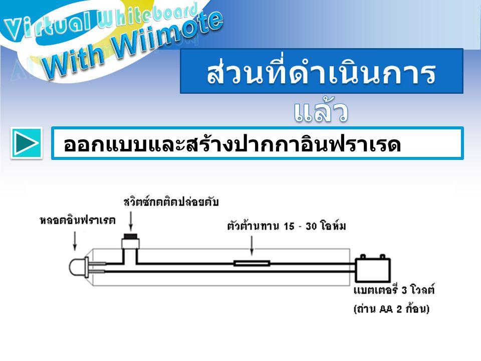ตัวอย่างปากกาอินฟราเรดที่พัฒนา