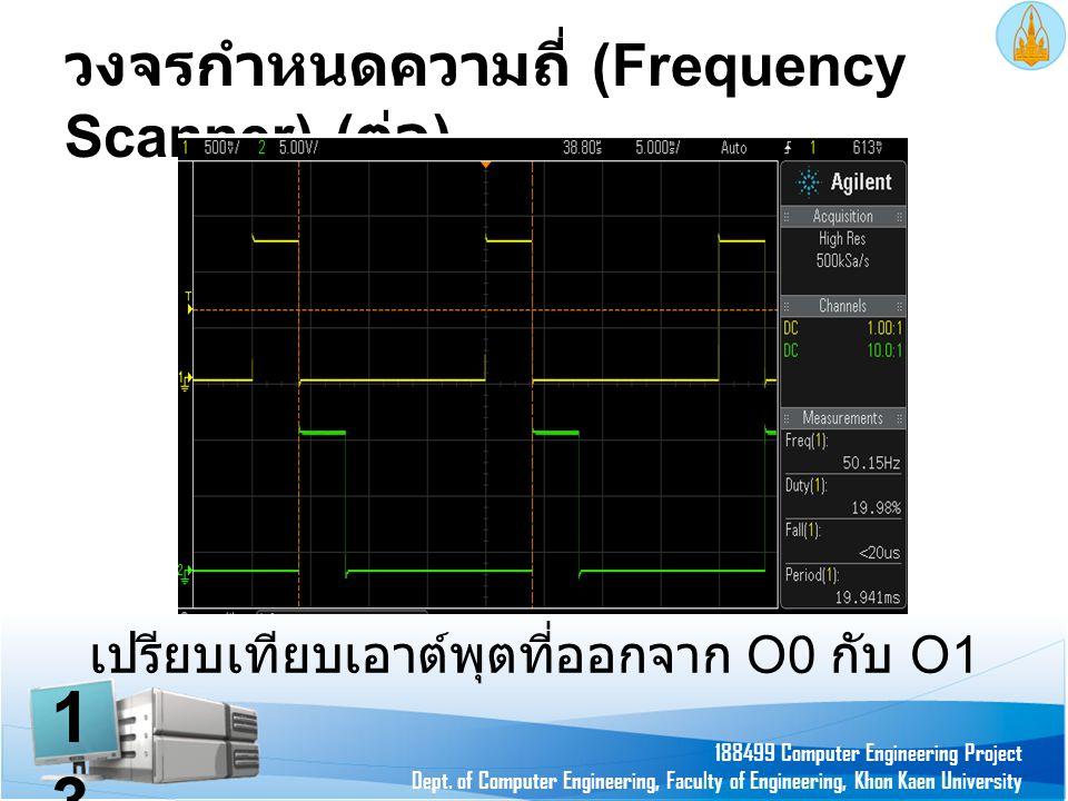 วงจรกำหนดความถี่ (Frequency Scanner) ( ต่อ ) 188499 Computer Engineering Project Dept. of Computer Engineering, Faculty of Engineering, Khon Kaen Univ
