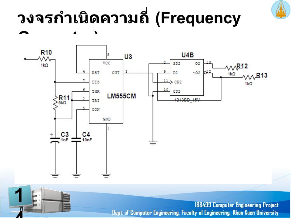 วงจรกำเนิดความถี่ (Frequency Generator) 188499 Computer Engineering Project Dept. of Computer Engineering, Faculty of Engineering, Khon Kaen Universit