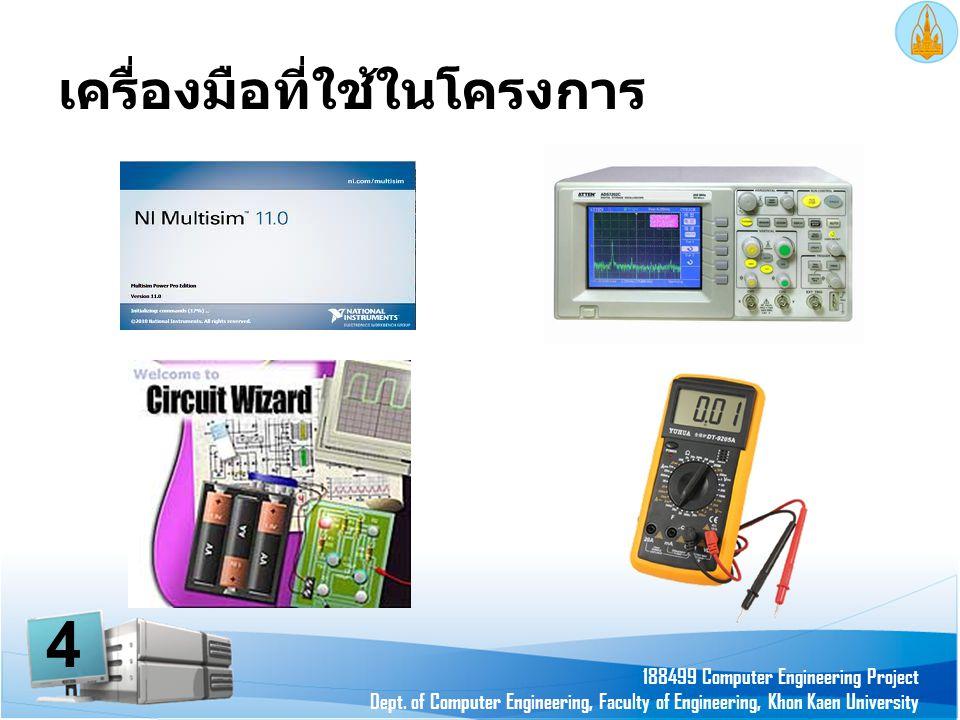 เครื่องมือที่ใช้ในโครงการ 188499 Computer Engineering Project Dept. of Computer Engineering, Faculty of Engineering, Khon Kaen University 4