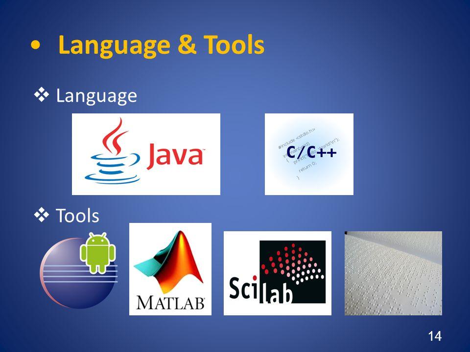 •Language & Tools  Language  Tools 14