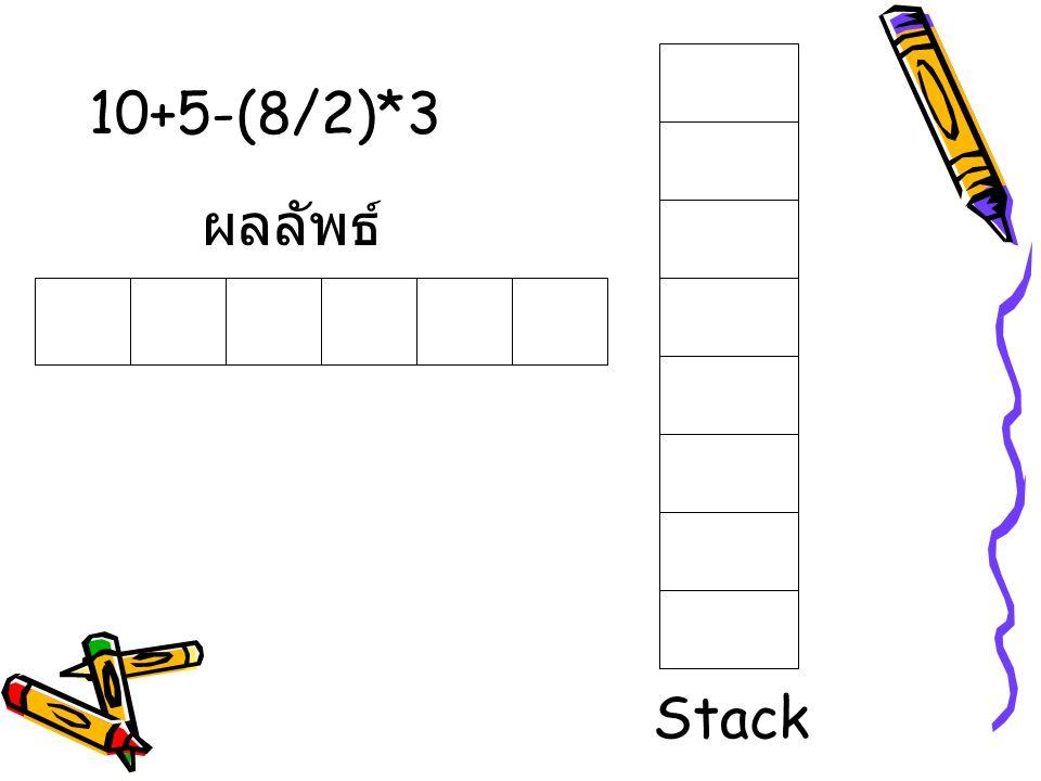 ผลลัพธ์ Stack