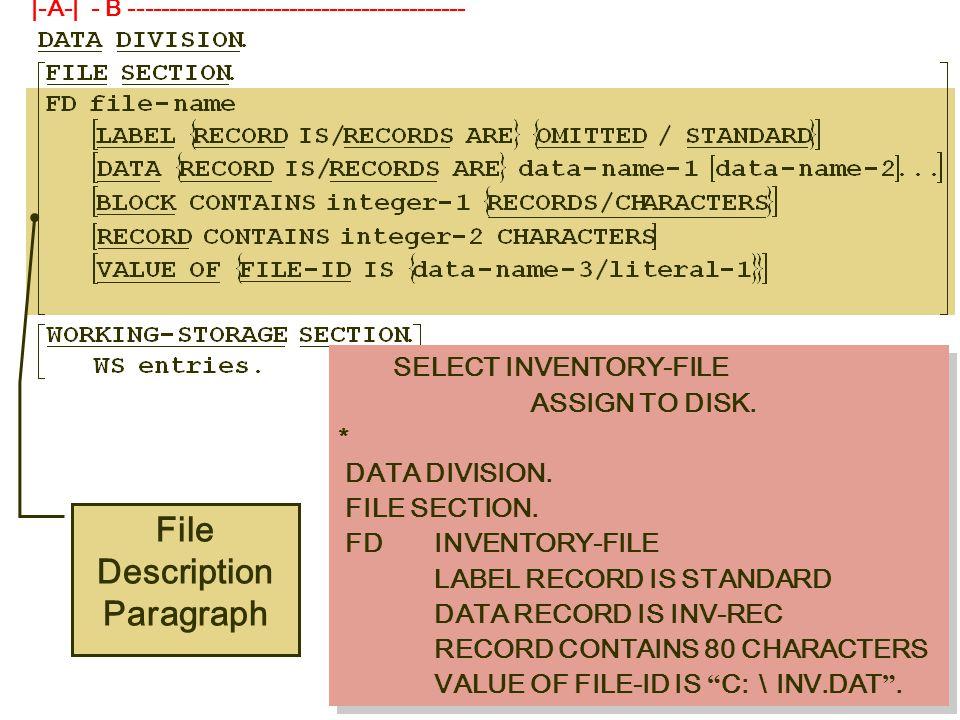 COBOL 'PICTURE' Clauses ตัวอย่าง Operations Symbol ( ไม่ใช้เนื้อที่ในการเก็บ ) PICTURE ลักษณะ ข้อมูล ข้อมู ลใน Mem ory ใช้ คำนว ณ ใช้ เนื้อ ที่ 77 NUM PIC PP99 VALUE 23.
