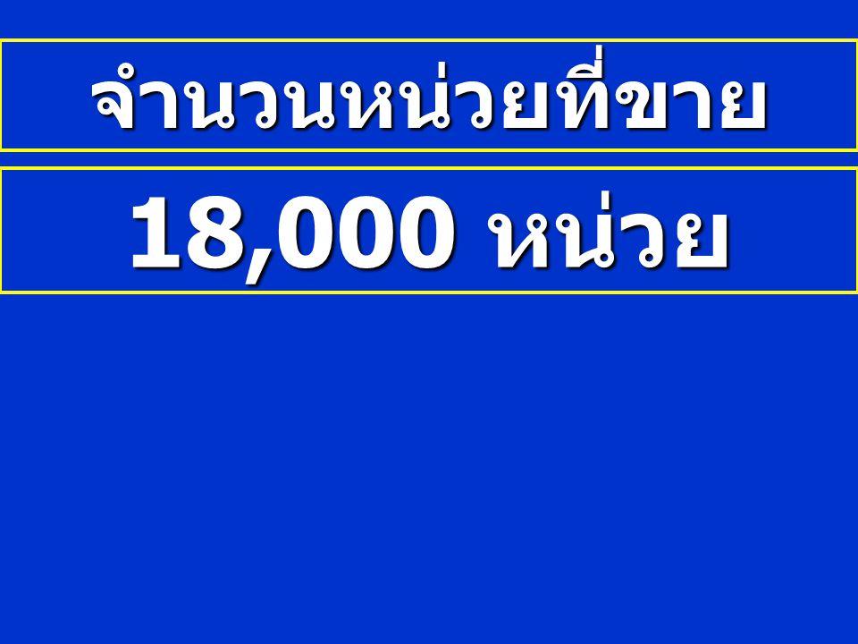 จำนวนหน่วยที่ขาย 18,000 หน่วย