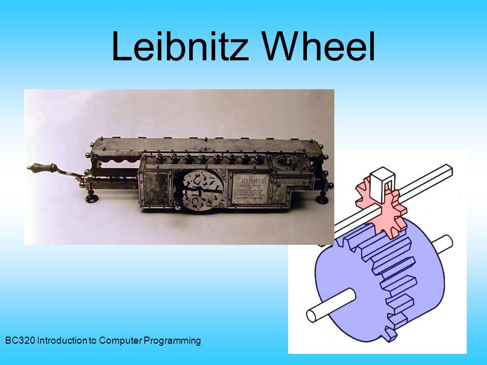 BC320 Introduction to Computer Programming15 Leibnitz Wheel