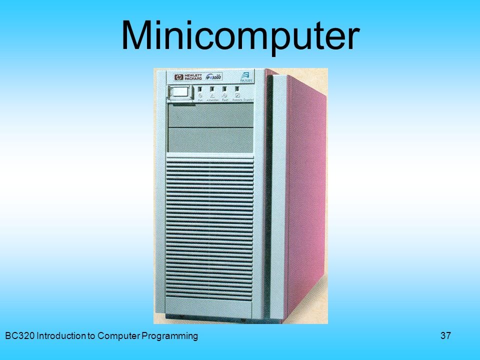 BC320 Introduction to Computer Programming37 Minicomputer