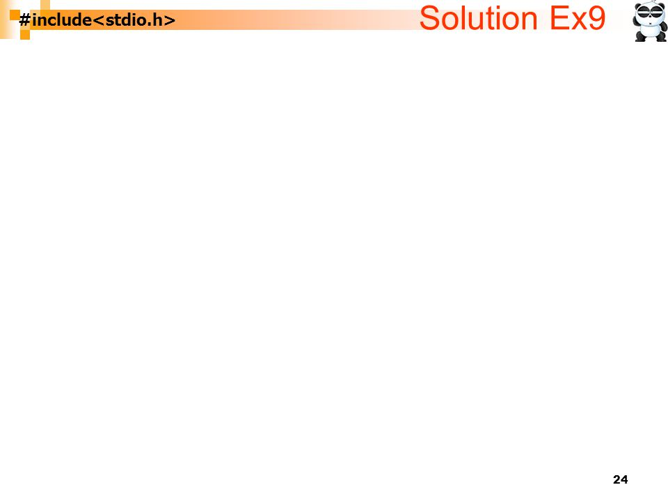 24 #include Solution Ex9