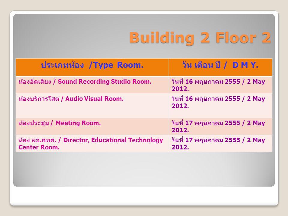 Building 2 Floor 3 ประเภทห้อง /Type Room.วัน เดือน ปี / D M Y.