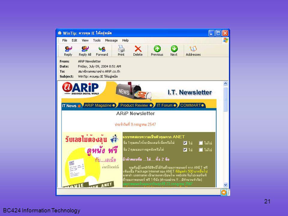 BC424 Information Technology 21