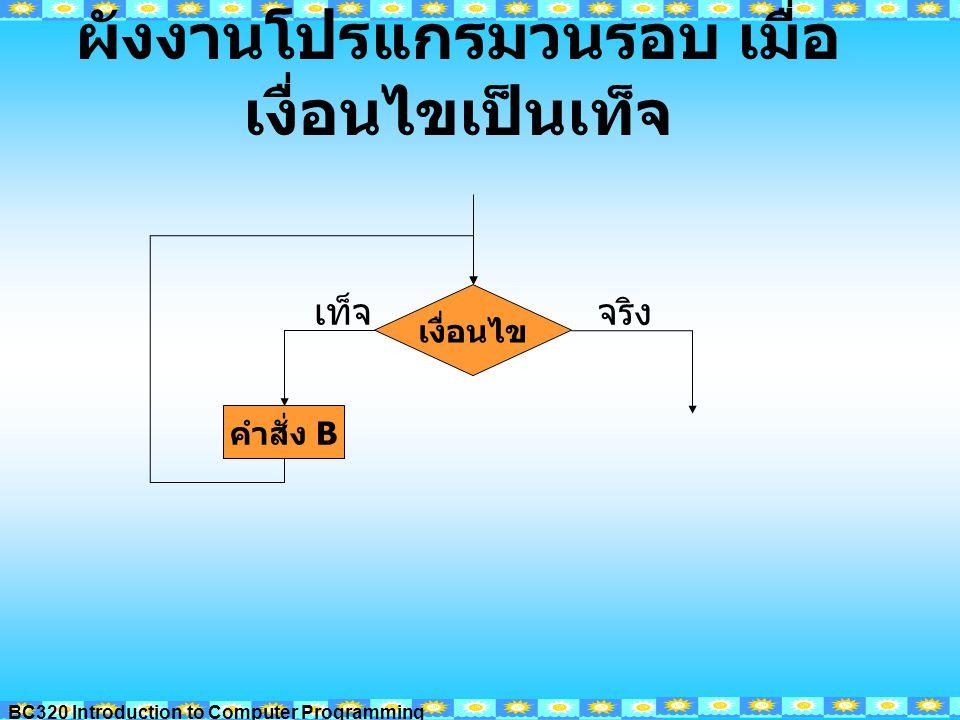 BC320 Introduction to Computer Programming Ex1 จงเขียนแนวคิดการเขียนโปรแกรม เพื่อ รับชื่อเพื่อน และแสดงผล ทั้งหมด 10 คน Input :..............................