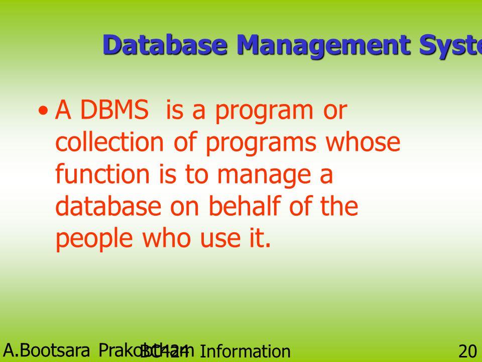 A.Bootsara Prakobtham BC424 Information Technology 19