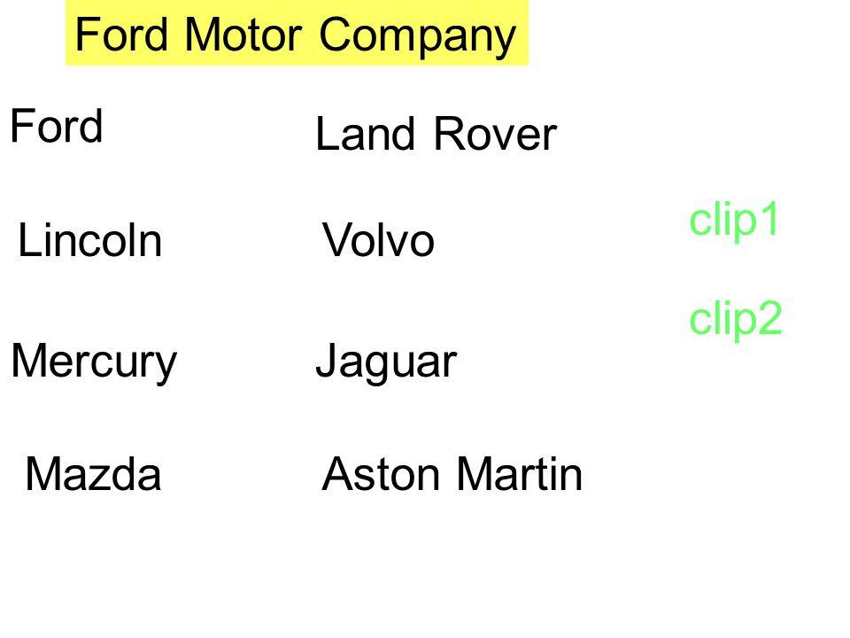 Lincoln Mercury Mazda Volvo Jaguar Land Rover Aston Martin Ford Ford Motor Company clip1 clip2