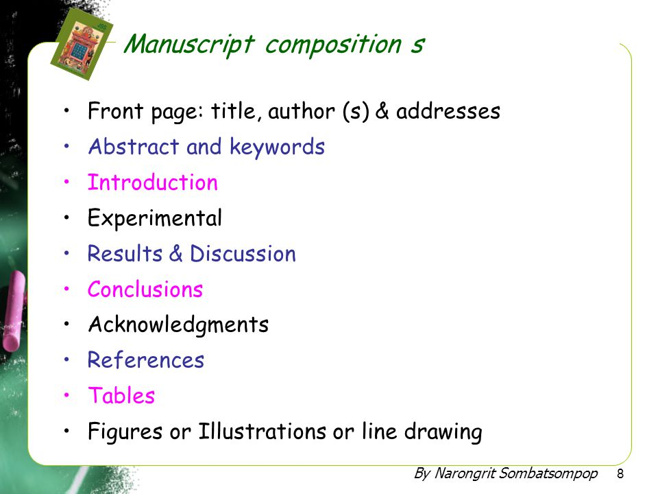 By Narongrit Sombatsompop 9 •Journals with relevant contents (aims and scope) •Journals with high total citations •Highly recommended well-known by researchers in the field.