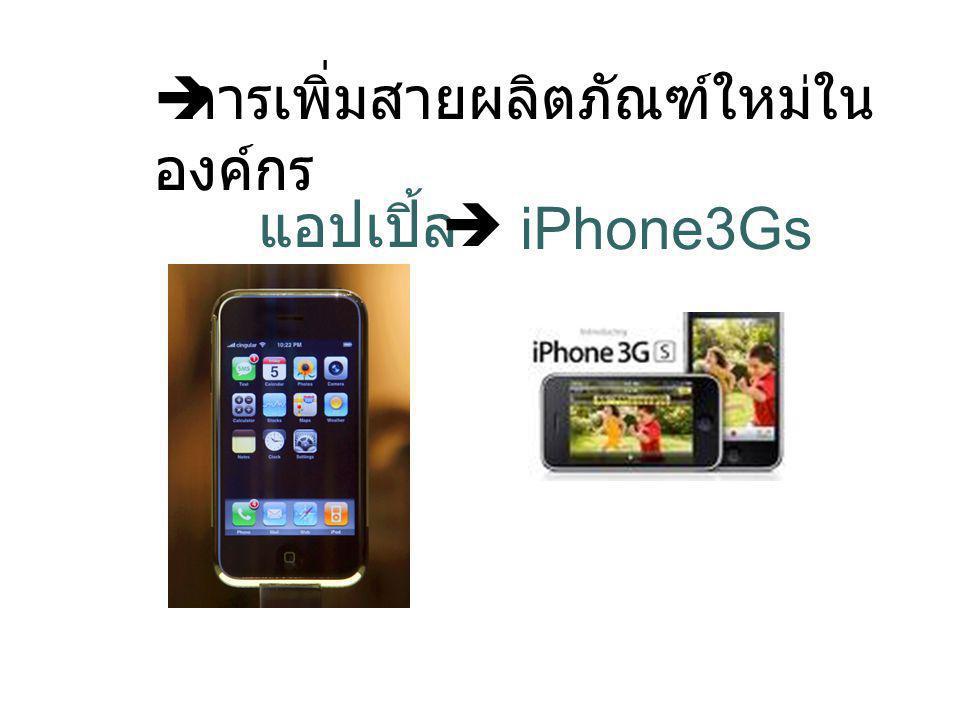  การเพิ่มสายผลิตภัณฑ์ใหม่ใน องค์กร iPhone3Gs แอปเปิ้ล 
