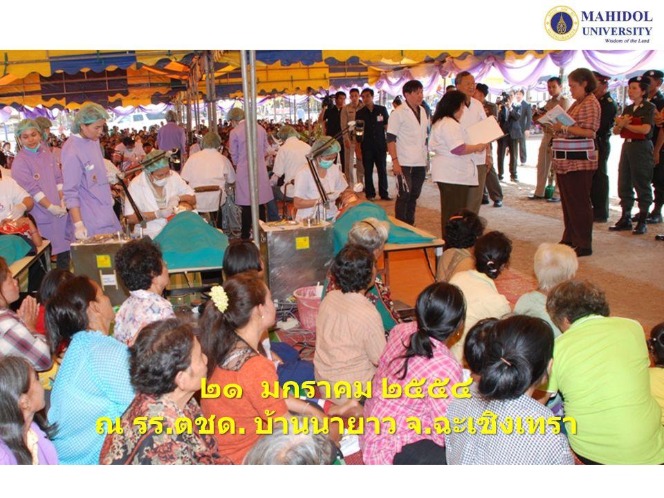 โครงการบริการทันตกรรมและบำรุงขวัญทหารรักษา อธิปไตยชายแดนไทย-กัมพูชา เพื่อเฉลิมพระเกียรติสมเด็จพระเทพรัตนราชสุดา ฯ สยามบรมราชกุมารี ครบ ๕๕ พรรษา พฤษภาคม ๑๑ - ๑๒ พฤษภาคม พ.ศ.