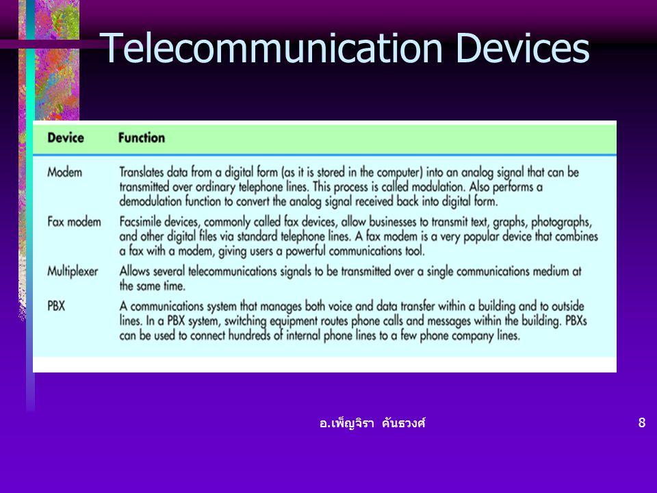 อ. เพ็ญจิรา คันธวงศ์ 8 Telecommunication Devices