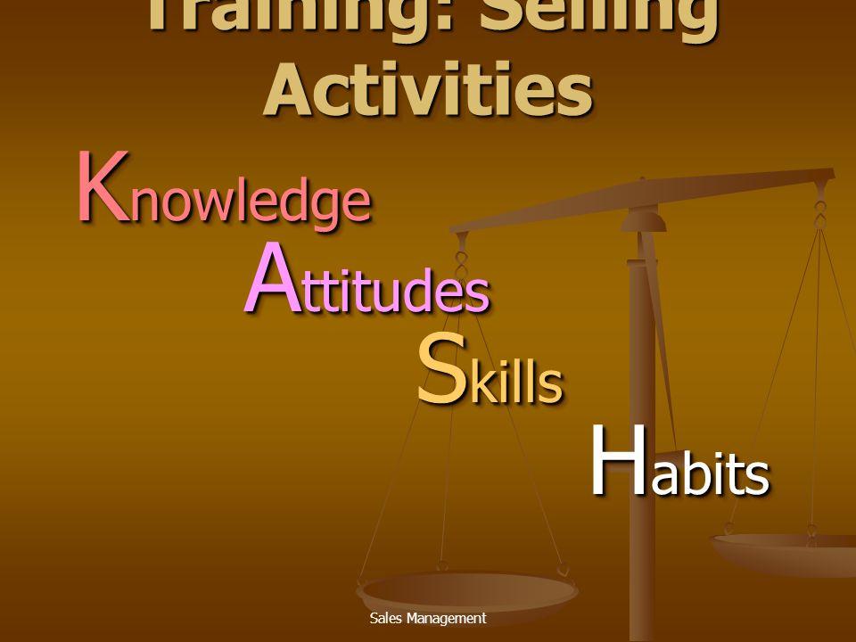 Sales Management ผู้ฝึกอบรม   เจ้าหน้าที่ฝึกอบรมของบริษัท (Corporate staff trainers)   พนักงานขายรุ่นพี่ / ผู้บริหาร (Regular sales force personnel)   วิทยากรนอกบริษัท (Outside training specialists)