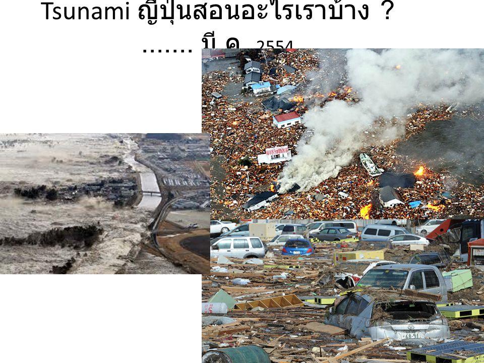 Tsunami ญี่ปุ่นสอนอะไรเราบ้าง ?....... มี. ค. 2554
