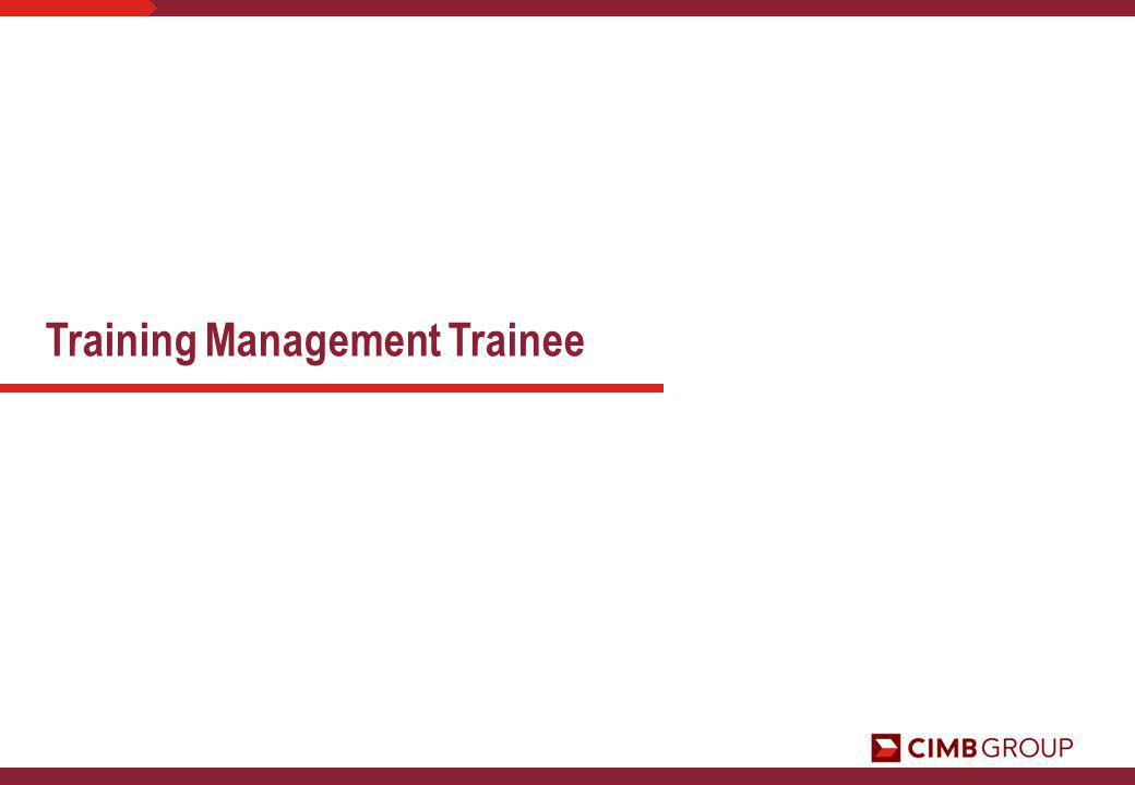 Training Management Trainee