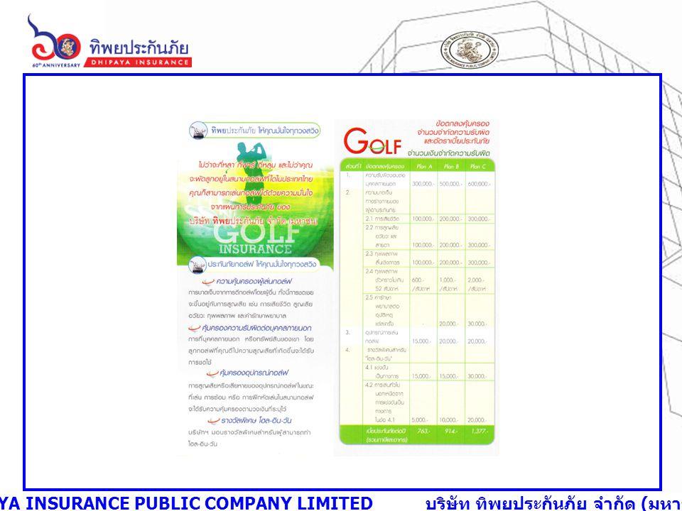 DHIPAYA INSURANCE PUBLIC COMPANY LIMITED บริษัท ทิพยประกันภัย จำกัด ( มหาชน )