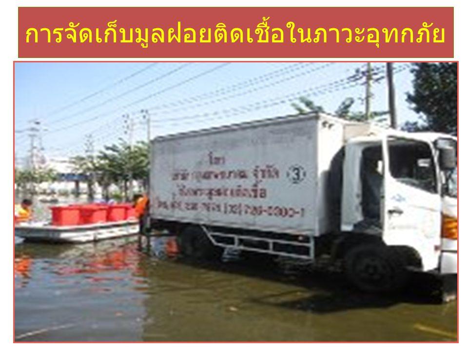 การจัดเก็บมูลฝอยติดเชื้อในภาวะอุทกภัย
