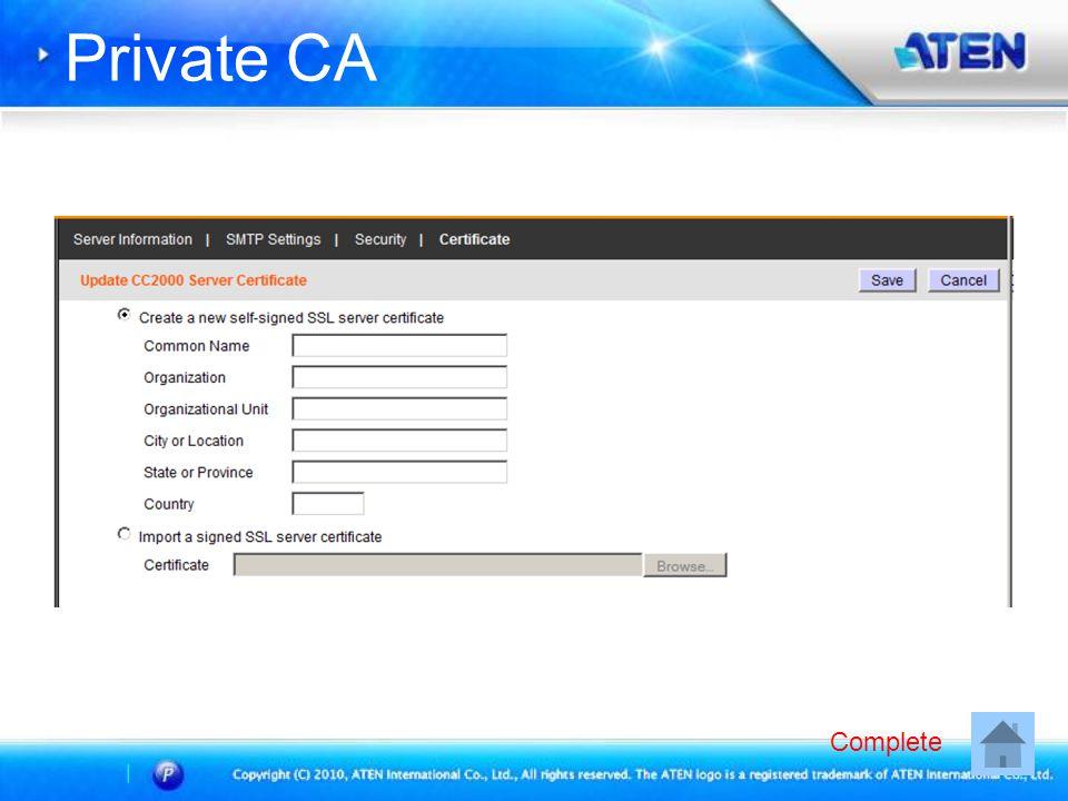 Private CA Complete