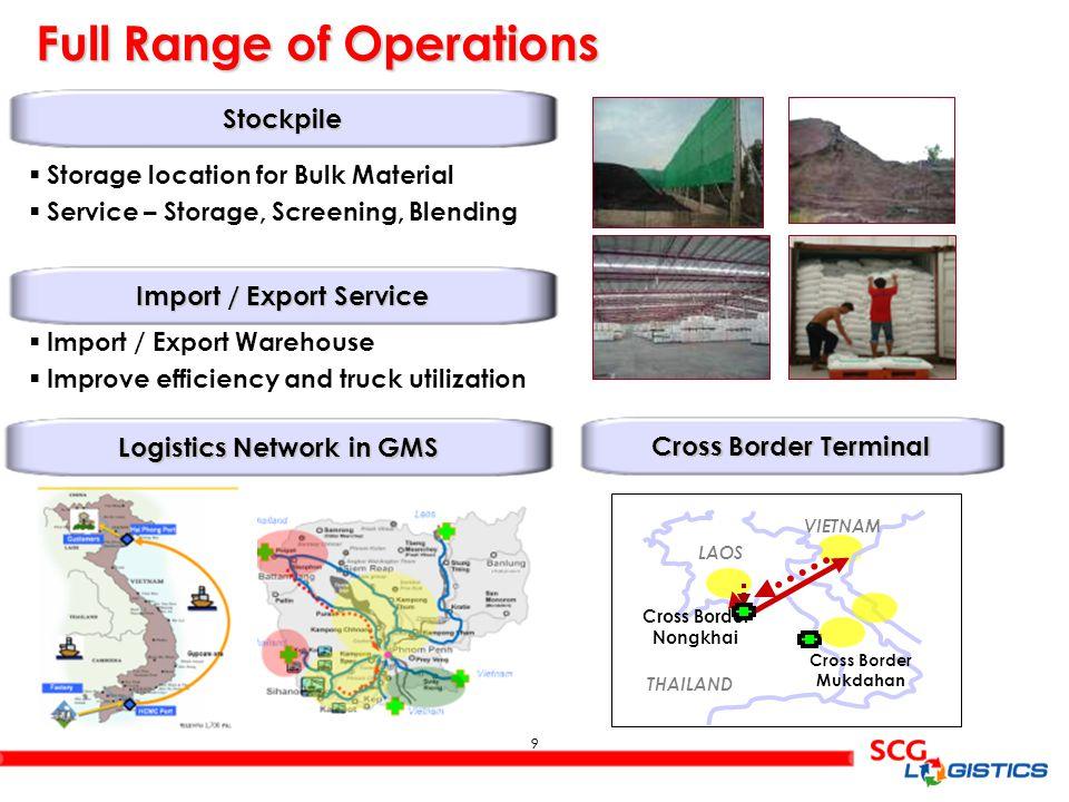 10 SCG Logistics Scale of Operations 6,000 Trucks 6,000 Trucks 200 Lighters/Barges 200 Lighters/Barges 140 Wagons 140 Wagons Carriers (Total 425 Carriers) Fleet Capacity