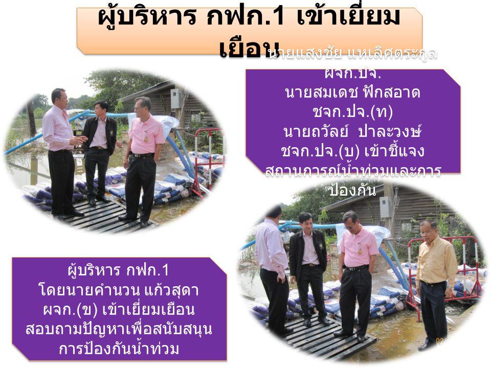 BY BIRD PRAJEAN 37410 11/10/55 น้ำเริ่มลดลงแล้ว ใกล้จะต่ำกว่าขอบตลิ่ง หลัง สำนักงาน กฟจ. ปจ.
